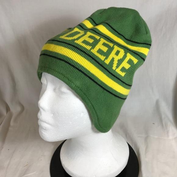 950b065f2c6e2 John Deere Other - John Deere Green Winter Knit Hat Cap Beanie